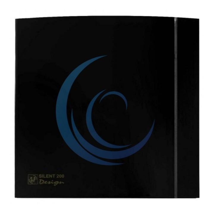 Вытяжной вентилятор SOLER&PALAU SILENT-200 CZ BLACK DESIGN 4C